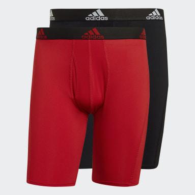 Männer Fitness & Training Essentials Logo Boxershorts 2 Paar Schwarz