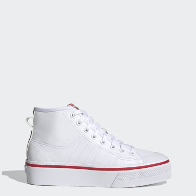 Nizza Platform Mid Shoes Bialy