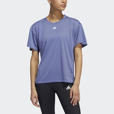 Camiseta Training AEROREADY 3 bandas Violeta Mujer Gimnasio Y Entrenamiento