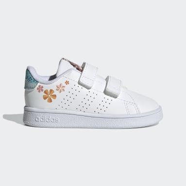 Infant & Toddler Sport Inspired White Advantage Shoes