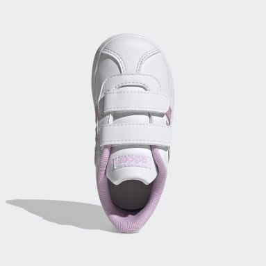 Kids Walking White VL Court 2.0 Shoes