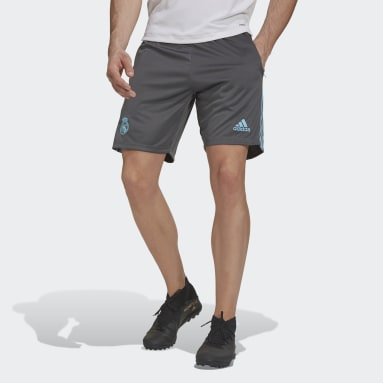 Men Football Grey Real Madrid Shorts