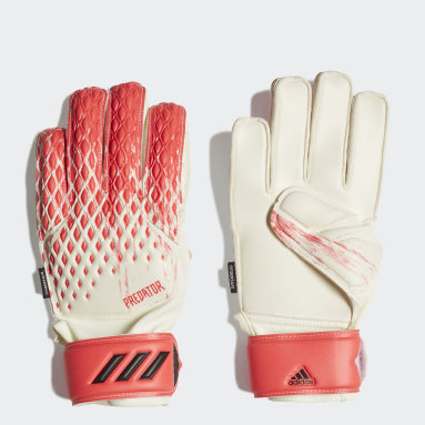 Youth 8-16 Years Football White Predator 20 Match Fingersave Goalkeeper Gloves