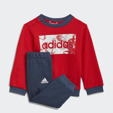 Děti Sportswear červená Souprava adidas Essentials Sweatshirt and Pants