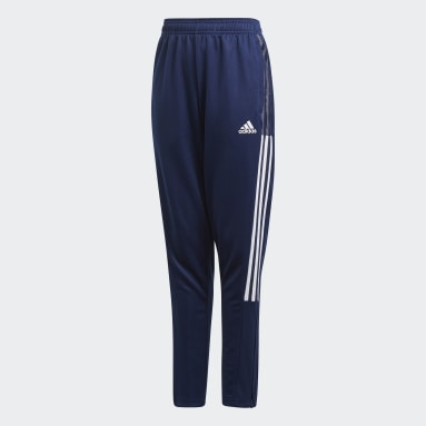 Youth 8-16 Years Football Blue Tiro 21 Tracksuit Bottoms