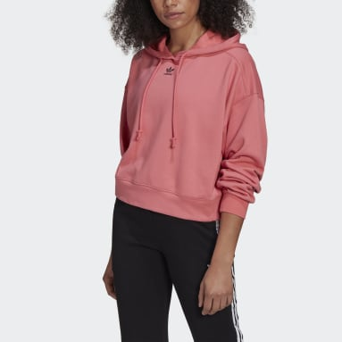 Women Originals Pink LOUNGEWEAR Adicolor Essentials Hoodie