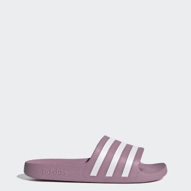 Women Swimming Pink Adilette Aqua Slides