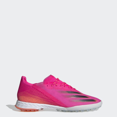 Men Football Pink X Ghosted.1 Turf Boots