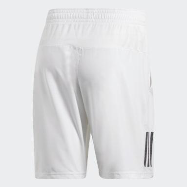 Erkek Tenis Beyaz Club 9-Inch 3 Bantlı Şort