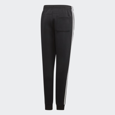 Youth 8-16 Years Gym & Training Black Must Haves 3-Stripes Joggers