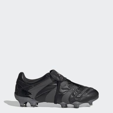 Football Black Predator Accelerator Firm Ground Boots