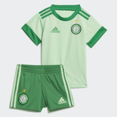 Kids Football Green Celtic FC 20/21 Away Baby Kit