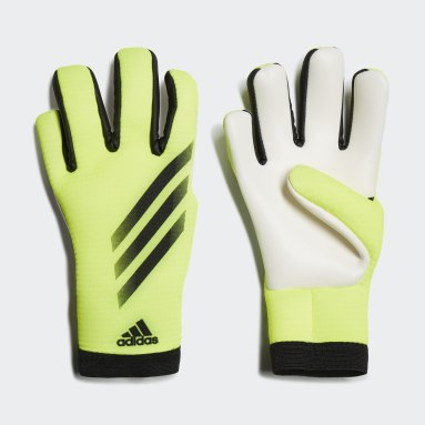 Youth 8-16 Years Football Yellow X Training Goalkeeper Gloves