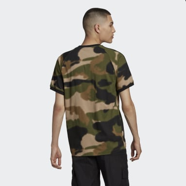T-shirt Camo 3-Stripes Verde Uomo Originals