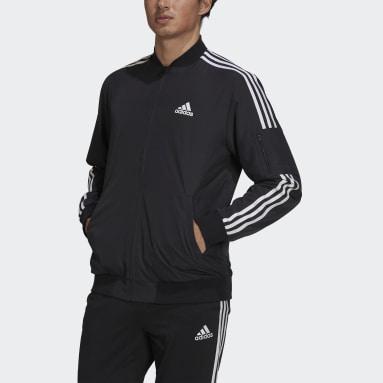 Men's Essentials Black Essentials Woven 3-Stripes Jacket