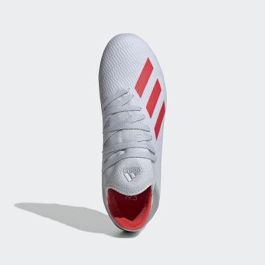 Zapatos de Fútbol X 19.3 Terreno Firme (UNISEX) Plateado Niño Fútbol