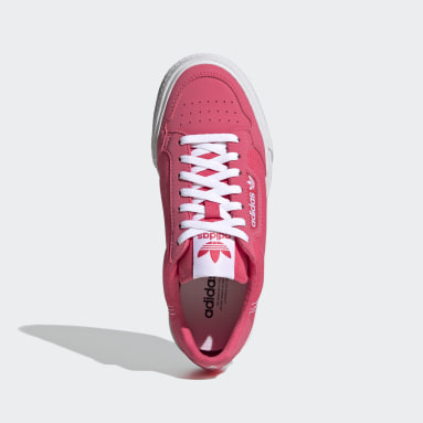 Girls Originals Pink Continental Vulc Shoes