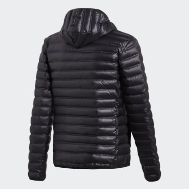 Men City Outdoor Black Varilite Hooded Down Jacket