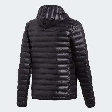 Mænd Overtøj Med Gadestil Sort Varilite Hooded dunjakke