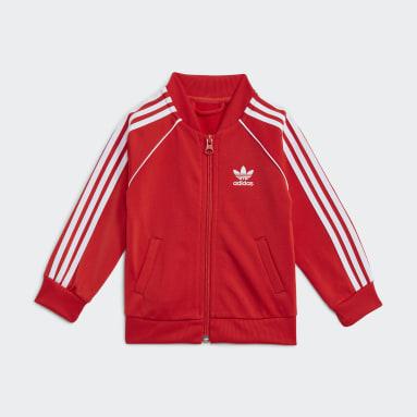 Kinderen Originals rood Adicolor SST Trainingspak