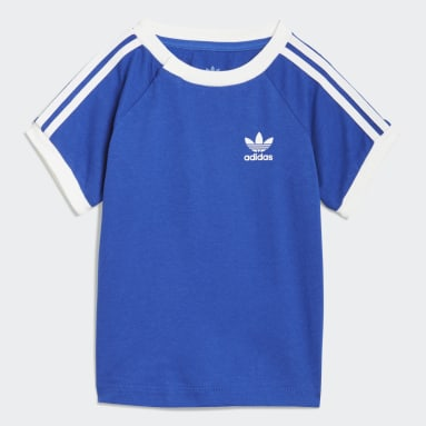 Kinderen Originals Blauw 3-Stripes T-shirt