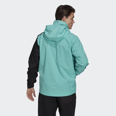 Herr TERREX Grön Terrex Multi RAIN.RDY Primegreen Two-Layer Rain Jacket