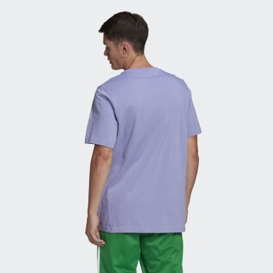 Men's Originals Purple Trefoil Ombré Tee