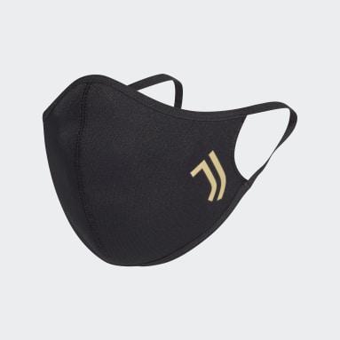 Lifestyle Zwart Juventus Mondkapje 3-Pack XS/S