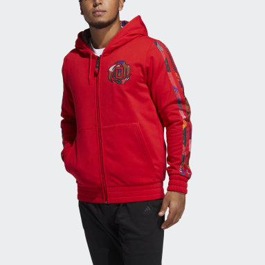 Men Basketball Red Mic D Rose CNY Hooded Sweatshirt
