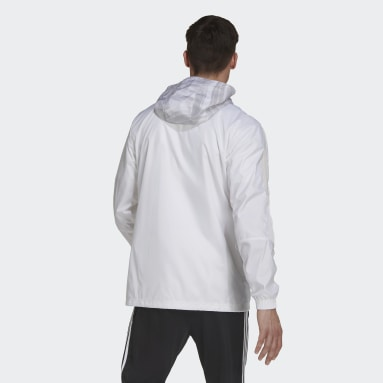 Men Football White Juventus Windbreaker