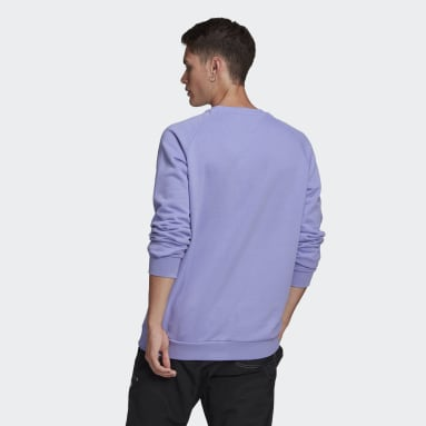 Sweat-shirt LOUNGEWEAR Trefoil Essentials Crewneck Violet Hommes Originals