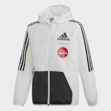 Boys Training White Cleofus Jacket
