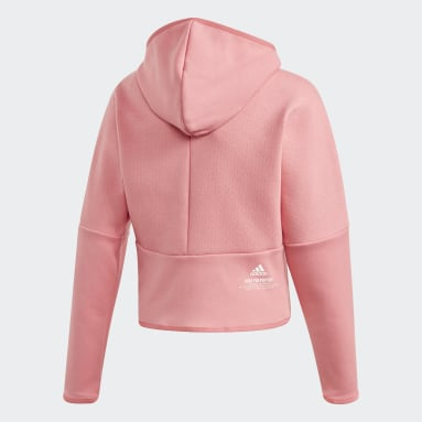 Hoodie adidas Z.N.E. Loose Full-Zip Rosa Ragazza Sportswear
