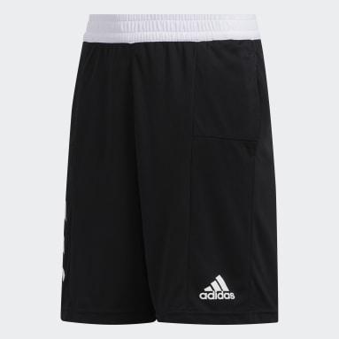 Kids Basketball Black Sport 3-Stripes Shorts