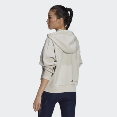 Women adidas by Stella McCartney Grey adidas by Stella McCartney Full-Zip Cropped Hoodie