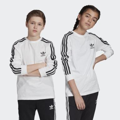 Youth Originals White 3-Stripes Tee