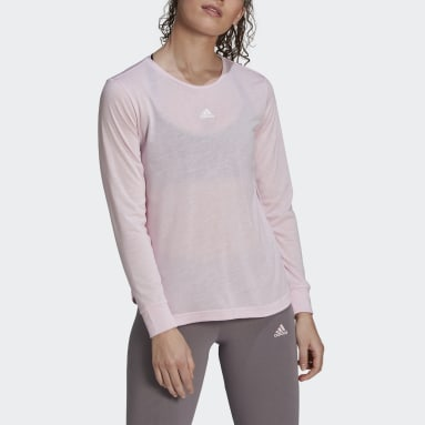 Women's Essentials Pink adidas x Zoe Saldana AEROREADY Long Sleeve Tee