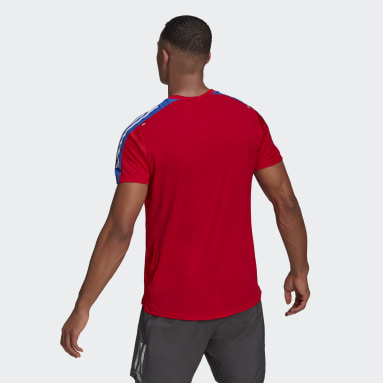T-shirt Own The Run 3-Stripes Running Rouge Hommes Running