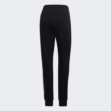 Ženy Sportswear čierna Tepláky Essentials Linear