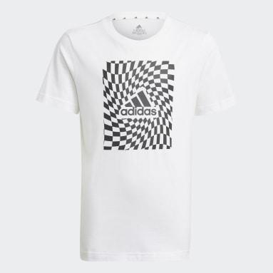 Boys Sportswear White Graphic Tee