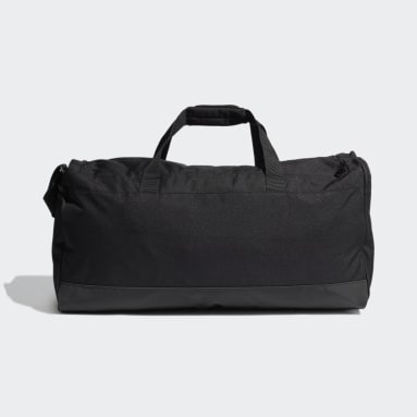 Lifestyle Black Essentials Logo Duffel Bag Large