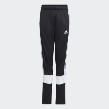 Boys Gym & Training Black 3-Stripes AEROREADY Primeblue Pants