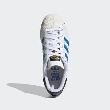 Kids Originals White Superstar Star Wars Shoes