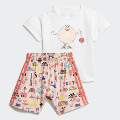 Kids Gym & Training White Cleofus Summer Set