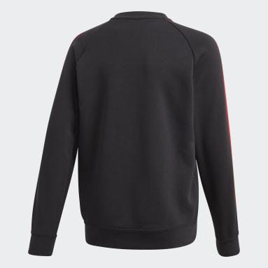 Sweat-shirt Manchester United Crew noir Adolescents Soccer