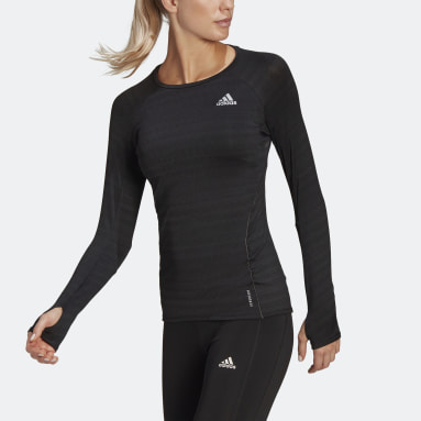 Women Running Black Runner Long Sleeve Tee