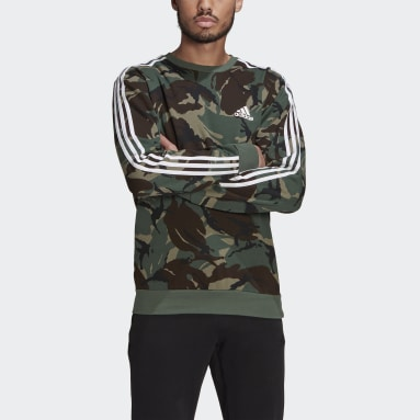 Sweat-shirt Essentials Camouflage Crew vert Hommes Essentials