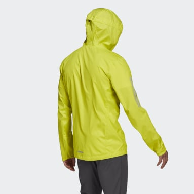 Men's Running Yellow Own the Run Hooded Wind Jacket