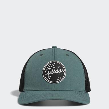 Men's Golf Green Patch Trucker Hat