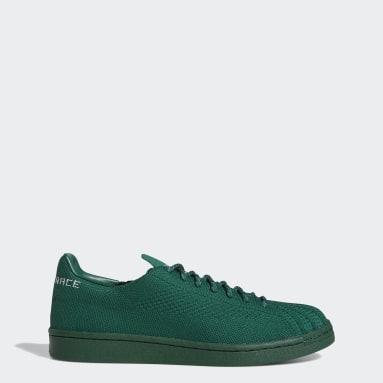 Originals groen Pharrell Williams Superstar Primeknit Schoenen